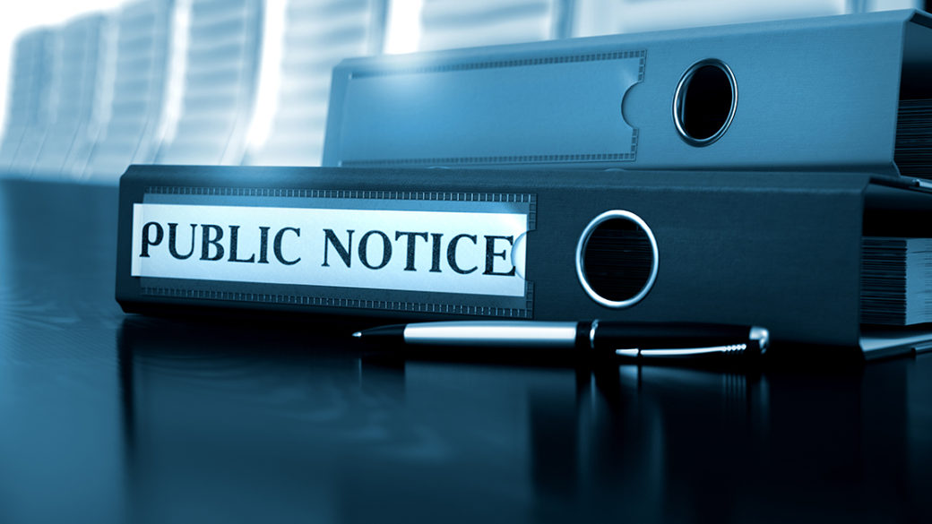Method of Public Notice of a Company