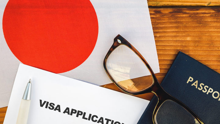 The kinds of visas for an alien to stay in Japan